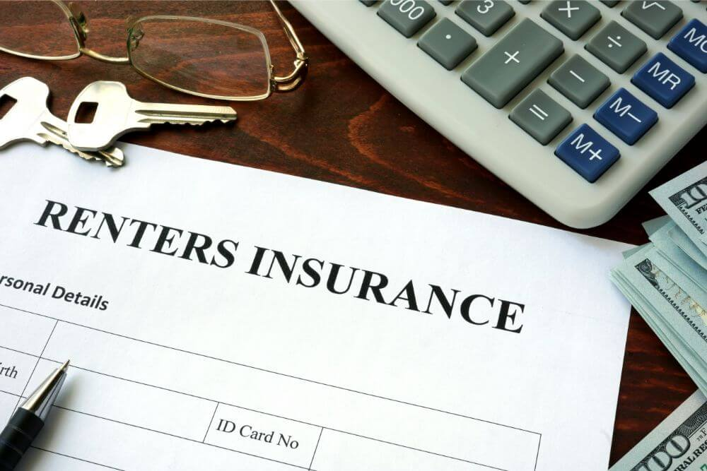 renters insurance form on a desk